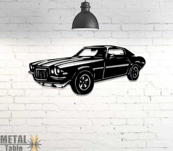 Chevrolet Camaro Lazer Kesim Metal Tablo