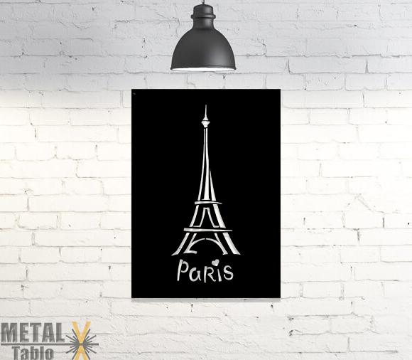 Paris Eyfel Kulesi Lazer Kesim Metal Tablo
