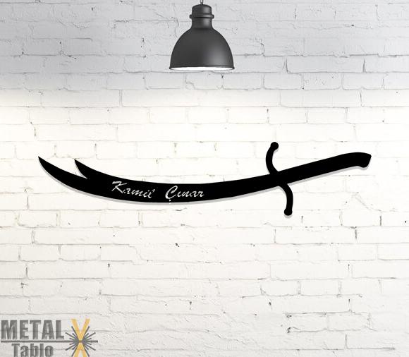 Kişiye Özel Zülfikar Kılıcı Metal Lazer Kesim