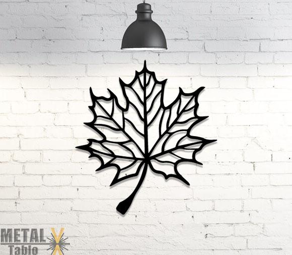 Dekoratif Yaprak Lazer Kesim Metal Tablo