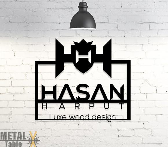 Hasan Harput Logo Özel Çalışma Lazer Kesim Metal Tablo
