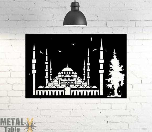 Sultan Ahmet Cami Lazer Kesim Metal Tablo
