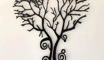 Ağaç Kadın Lazer Kesim Tablo