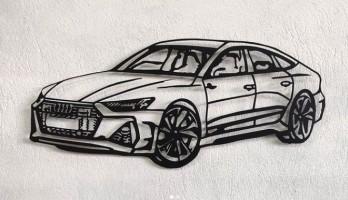 Audi Rs7 Lazer Kesim Metal Tablo