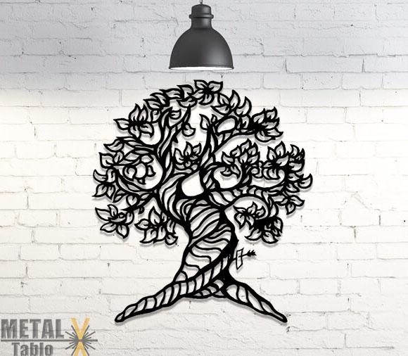 Soy Ağacı Desenli Metal Tablo