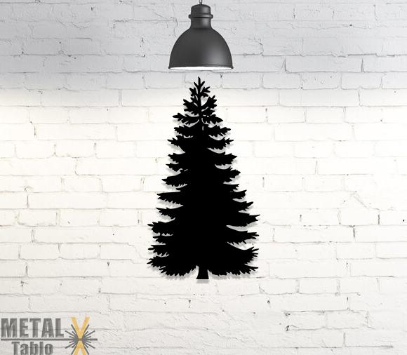 Noel Yeni Yıl Çam Ağacı Metal Lazer Kesim