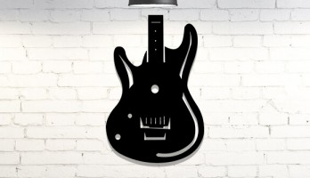 Elektro Gitar Lazer Kesim Metal Tablo