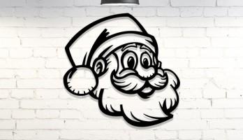 Noel Baba Yeni Yıl Lazer Kesim Metal Dekor