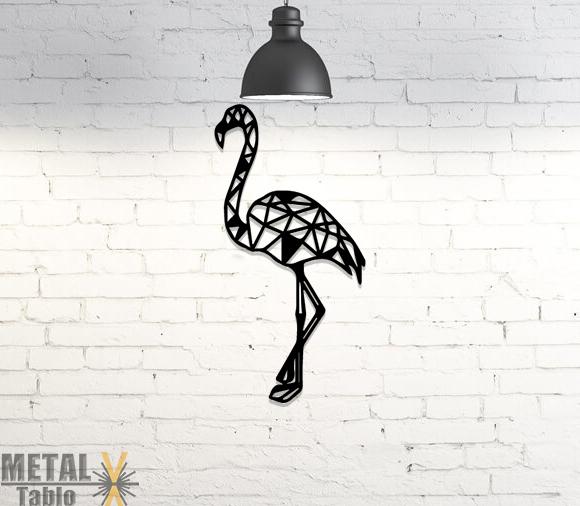 Flamingo Lazer Kesim Metal Tablo