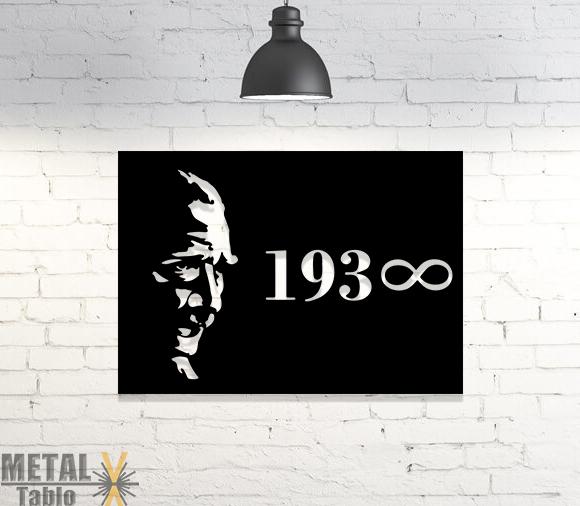 Mustafa Kemal Atatürk 1938 Metal Tablo